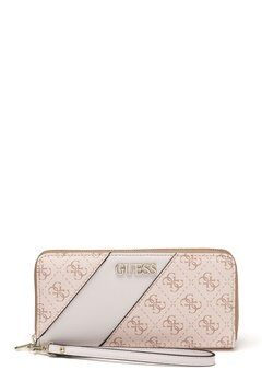 Guess Camy Large Zip Around Bag Blush Multi Bubbleroom.fi
