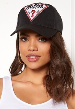 Guess Logo Baseball Cap Jet Black Bubbleroom.fi