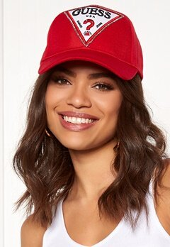 Guess Logo Baseball Cap Necessary Red Bubbleroom.fi