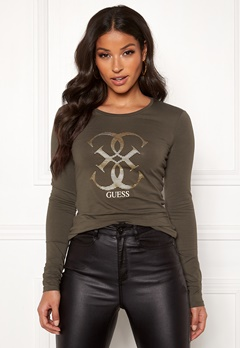 Guess LS CN 4G Tee Dark Military Green Bubbleroom.fi