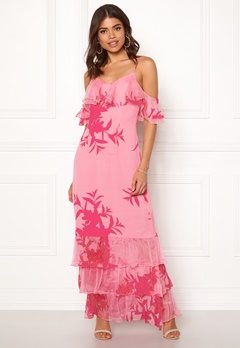 Guess Olinda Dress Flower Impact Pink Bubbleroom.fi