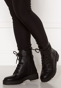 Guess Orana Leather Bootie Black Bubbleroom.fi
