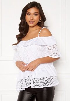 Guess SS New Olympia Top TWHT True White A000 bubbleroom.fi