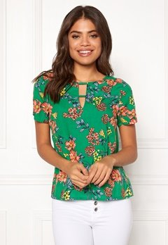 Happy Holly Addy top Green / Patterned Bubbleroom.fi