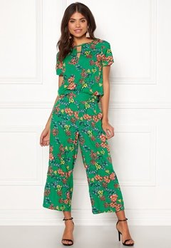 Happy Holly Addy wide pants Green / Patterned Bubbleroom.fi