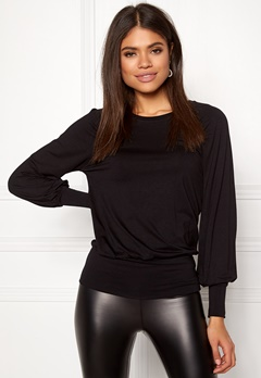 Happy Holly Adela cuff top Black Bubbleroom.fi