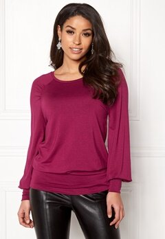 Happy Holly Adela cuff top Dark fuchsia Bubbleroom.fi