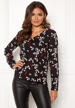 Happy Holly Adele blouse Black / Patterned Bubbleroom.fi