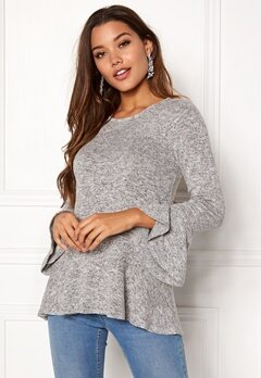 Happy Holly Adora top Grey melange Bubbleroom.fi