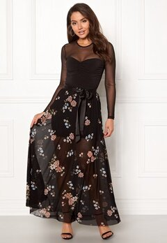 Happy Holly Alaina maxi skirt Black / Patterned Bubbleroom.fi