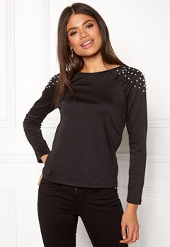 Happy Holly Alana top Black Bubbleroom.fi
