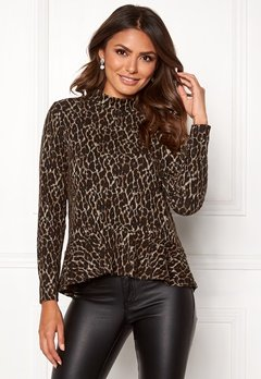 Happy Holly Alexandra top Leopard Bubbleroom.fi
