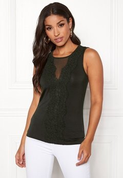 Happy Holly Alicia top Khaki green Bubbleroom.fi