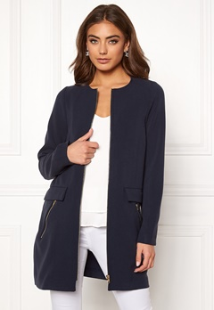 Happy Holly Alina coat Dark blue Bubbleroom.fi