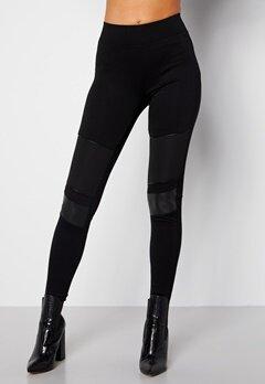 Happy Holly Allison biker leggings Black bubbleroom.fi
