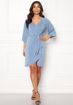 Happy Holly Alva dress Dusty blue Bubbleroom.fi