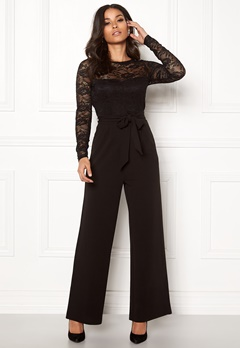 Happy Holly Amalia jumpsuit Black Bubbleroom.fi