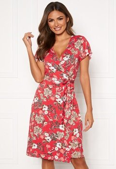 Happy Holly Amanda wrap dress Red / Patterned Bubbleroom.fi