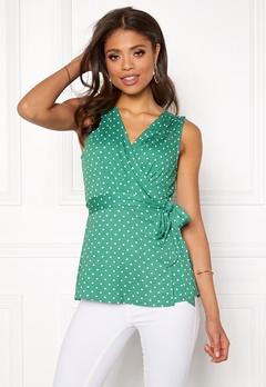 Happy Holly Amelie top Green / Dotted Bubbleroom.fi