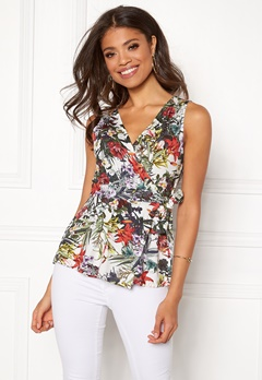 Happy Holly Amelie top White / Patterned Bubbleroom.fi