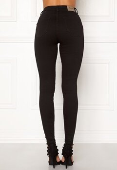 Happy Holly Amy push up jeans Black Bubbleroom.fi