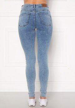 Happy Holly Amy push up jeans Light denim Bubbleroom.fi