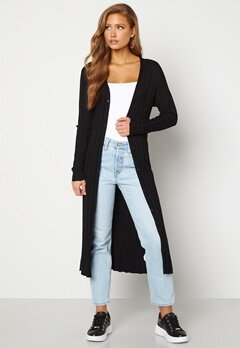 Happy Holly Anabelle long cardigan Black Bubbleroom.fi