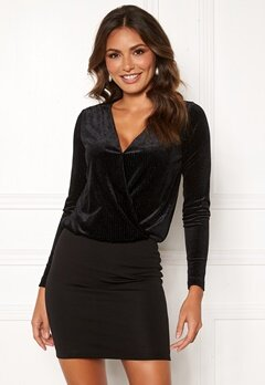 Happy Holly Angela velvet dress Black Bubbleroom.fi