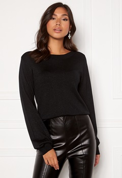 Happy Holly Angelica lurex sweater Black Bubbleroom.fi