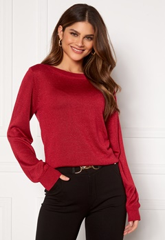 Happy Holly Angelica lurex sweater Dark red Bubbleroom.fi