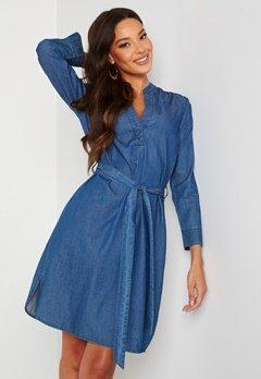 Happy Holly Angelina denim dress Medium denim Bubbleroom.fi