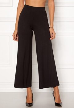 Happy Holly Anne tricot pants Black Bubbleroom.fi