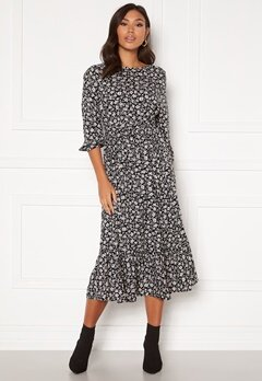 Happy Holly Annie dress Black / Patterned Bubbleroom.fi