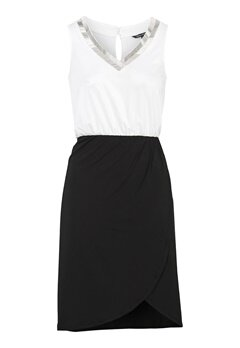 Happy Holly Anya dress Black / Offwhite Bubbleroom.fi