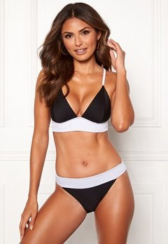 Happy Holly Ava bikini top Black / White Bubbleroom.fi
