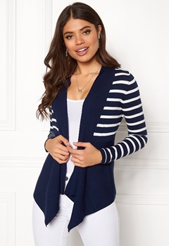 Happy Holly Beatrice cardigan Navy / Striped Bubbleroom.fi