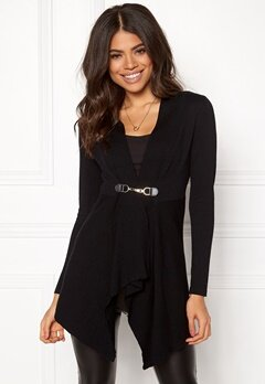 Happy Holly Beatrice long cardigan Black Bubbleroom.fi