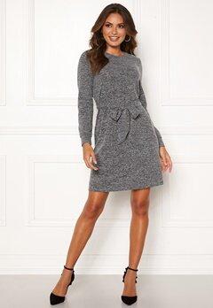 Happy Holly Beatrix belted dress Dark grey melange Bubbleroom.fi