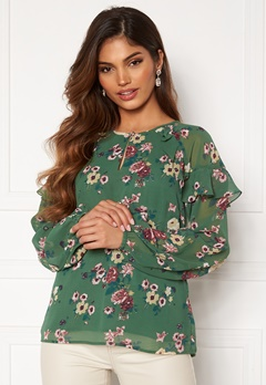 Happy Holly Becky blouse Green / Patterned Bubbleroom.fi