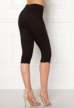 Happy Holly Becky capri jeggings Black Bubbleroom.fi