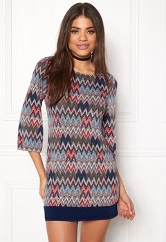 Happy Holly Belicia dress Patterned / Blue Bubbleroom.fi