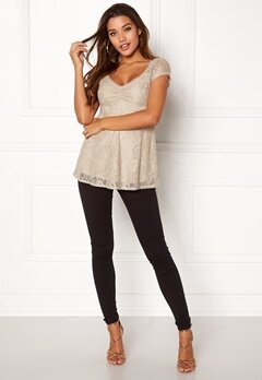 Happy Holly Benita lace top Light mole Bubbleroom.fi