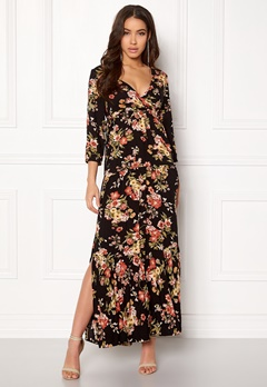 Happy Holly Betty maxi dress Black / Patterned Bubbleroom.fi
