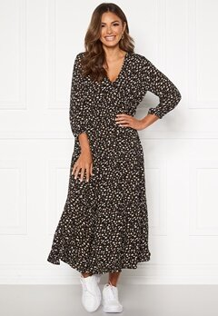 Happy Holly Bianka maxi  dress Black / Patterned Bubbleroom.fi