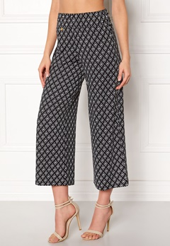 Happy Holly Bianka pants Black / Patterned Bubbleroom.fi