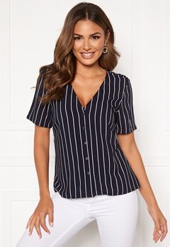 Happy Holly Blake blouse Dark blue / Striped Bubbleroom.fi