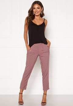 Happy Holly Blake pants Dusty pink / Dotted Bubbleroom.fi