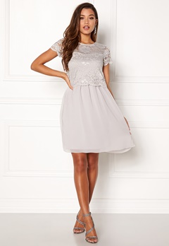 Happy Holly Blanche dress Light grey Bubbleroom.fi