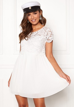 Happy Holly Blanche dress White Bubbleroom.fi
