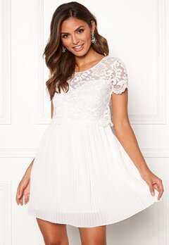 Happy Holly Blanche dress White Bubbleroom.fi